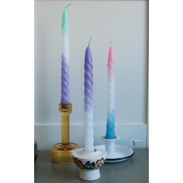 Zestaw 4 świec tęczowych
