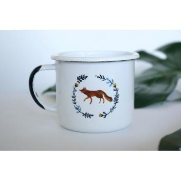 kubek emaliowany FLORAL FOX...